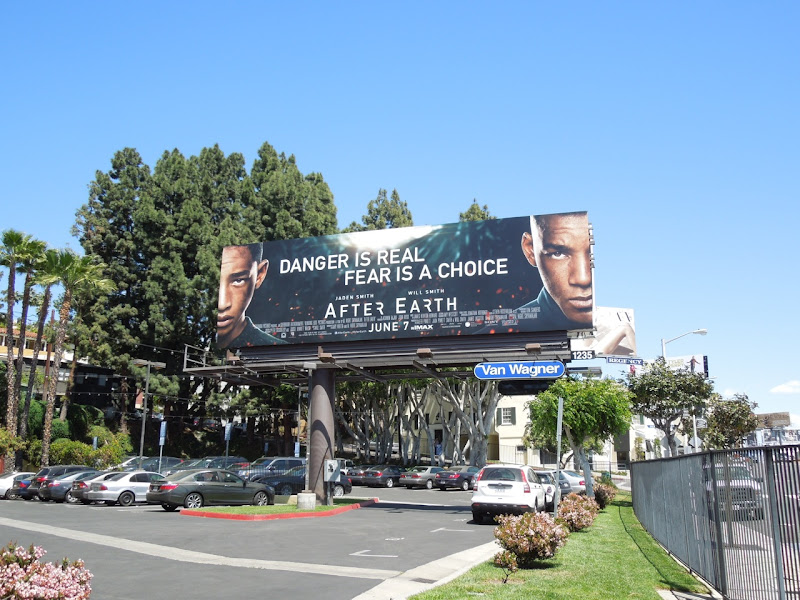 After Earth film billboard