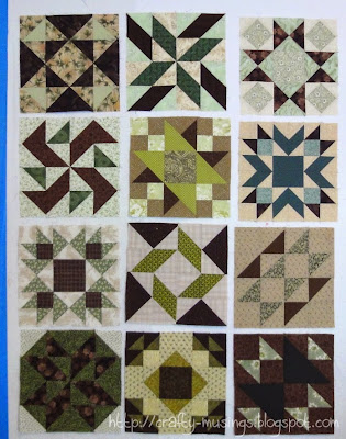 Chocolate Marshmallow Sampler, potential layout of all twelve blocks