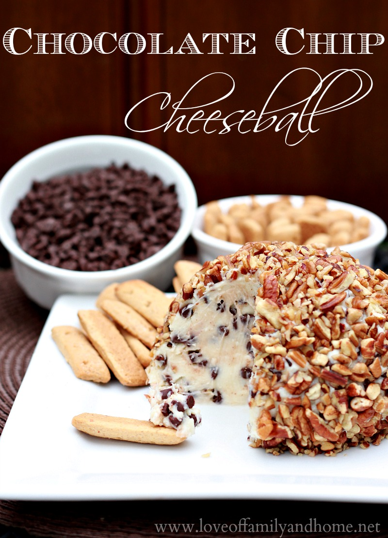 Chocolate Chip Cheese Ball Recipe — Dishmaps