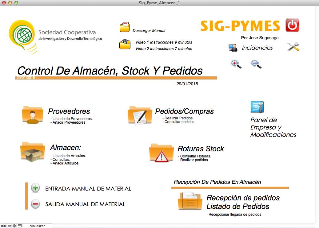 Sig Pyme gestion de Almacenes