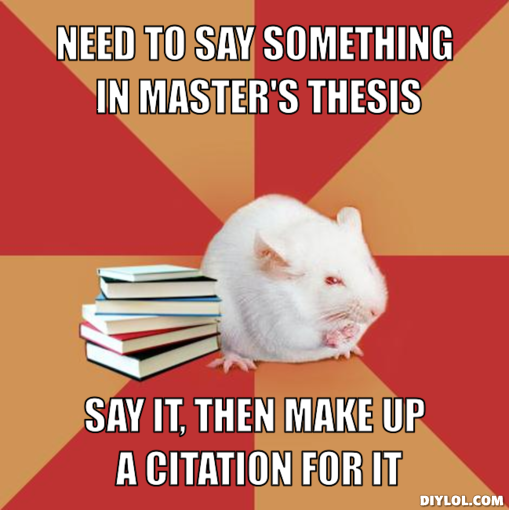 How to cite masters thesis