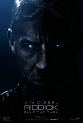 'Riddick' movie poster, Vin Diesel featured