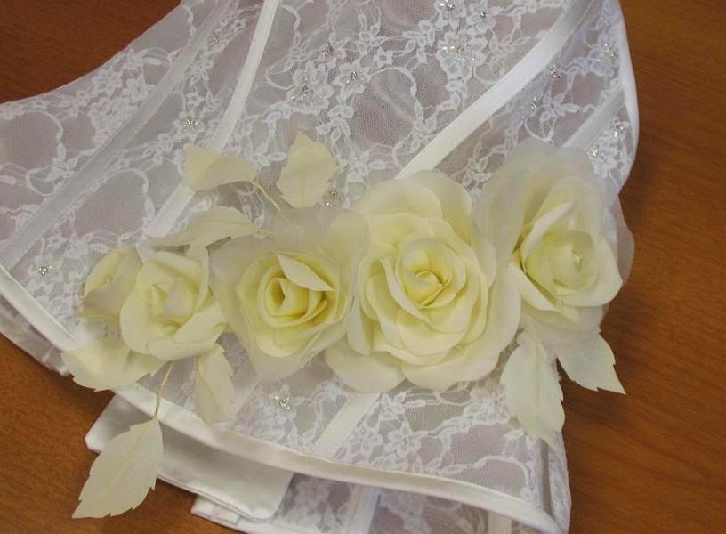 rose per abiti da sposa,rose in stoffa