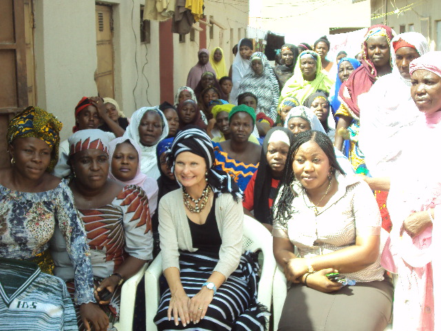 Annie Coons of the USA Senate Official Visit to IDS Community Skills Acquisition Centre(CSAC) ADO