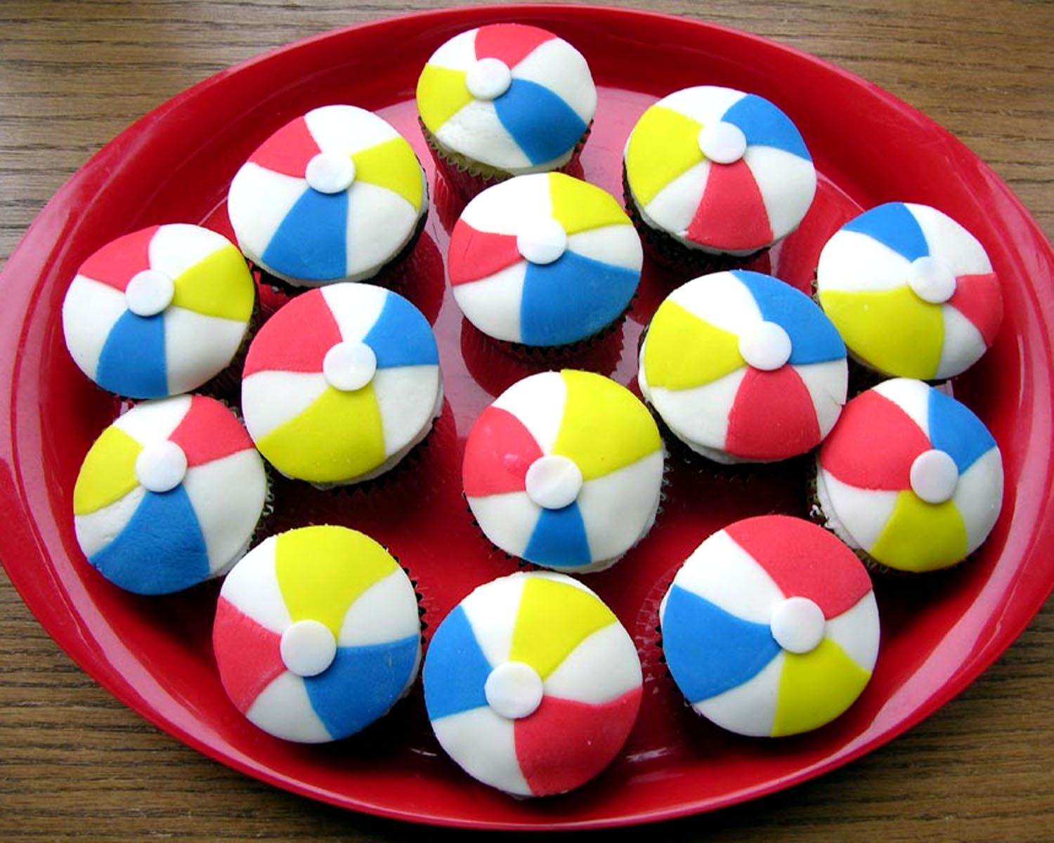 Beki Cooks Cake Blog Beach Ball Cupcakes
