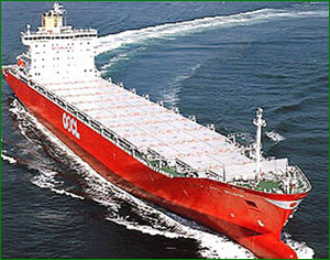 Super tanker changing course.