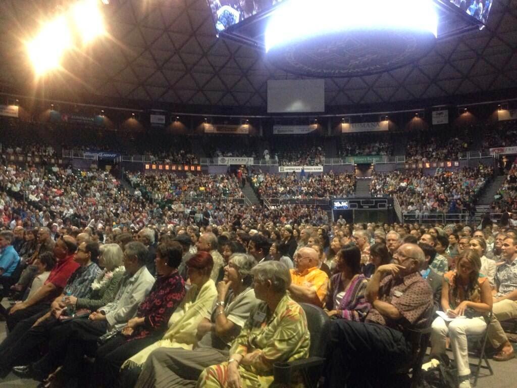Al Gore audience photo courtesy Sen. Brian Schatz