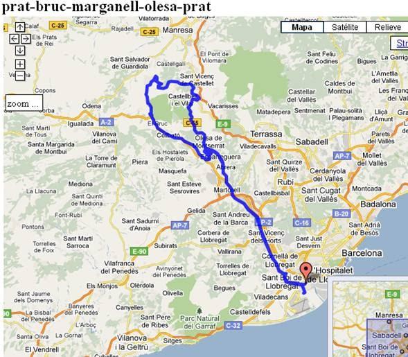 Agrupaci ciclista el prat salida 1 de mayo monistrol de montserrat - Tiempo olesa de montserrat ...
