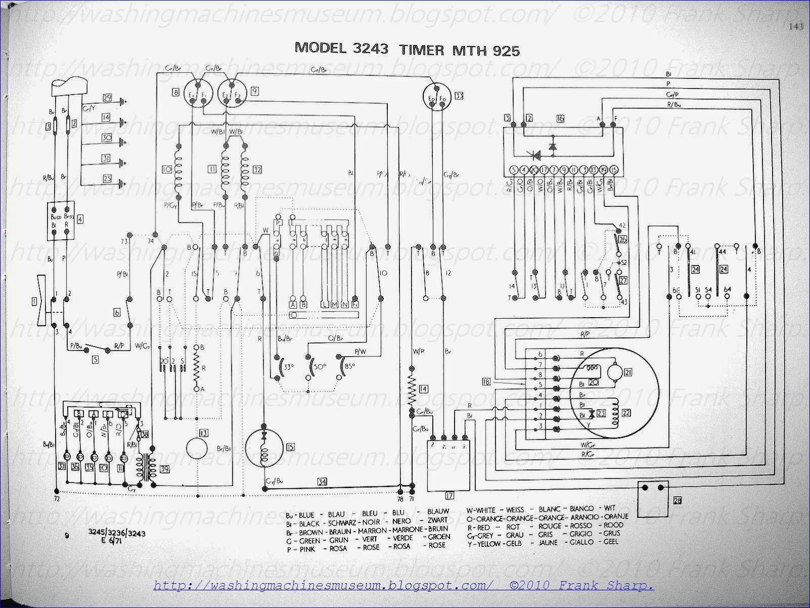 Hoover Washing Machine Motor Wiring Diagram : Schematic diagram of washing machine machines