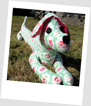 Floral dog draft excluder
