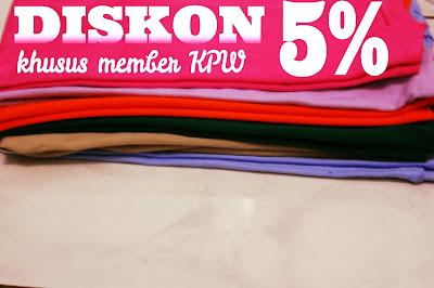 membership kaos polos warna