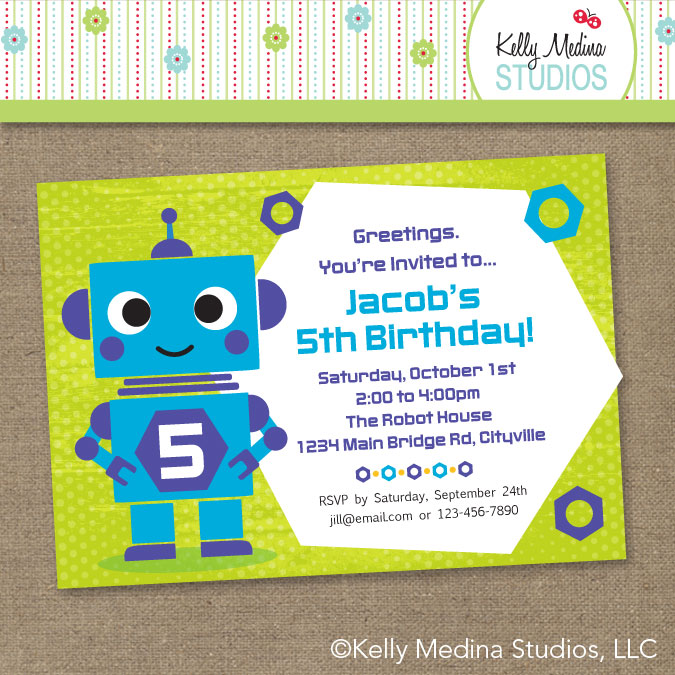 Robot birthday invitations images invitation templates free download property of kelly robot invitation robot invitation filmwisefo filmwisefo
