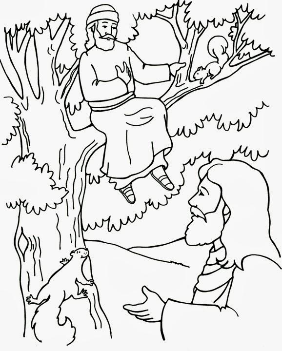 Dibujos Para Colorear Zaqueo Y Jesus - Dibujos Para Dibujar