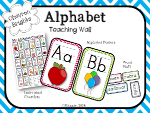 Alphabet Teaching Posters in Chevron