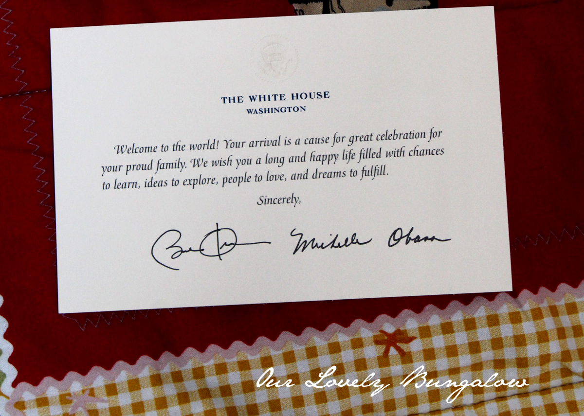 Letter From the President – Birthday Card from White House