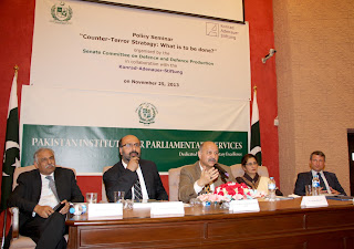 'Policy Seminar on Counterterrorism Strategy' – Pakistan Senate's Defense Committee – November 2013