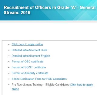 SIDBI Officer Result 2016