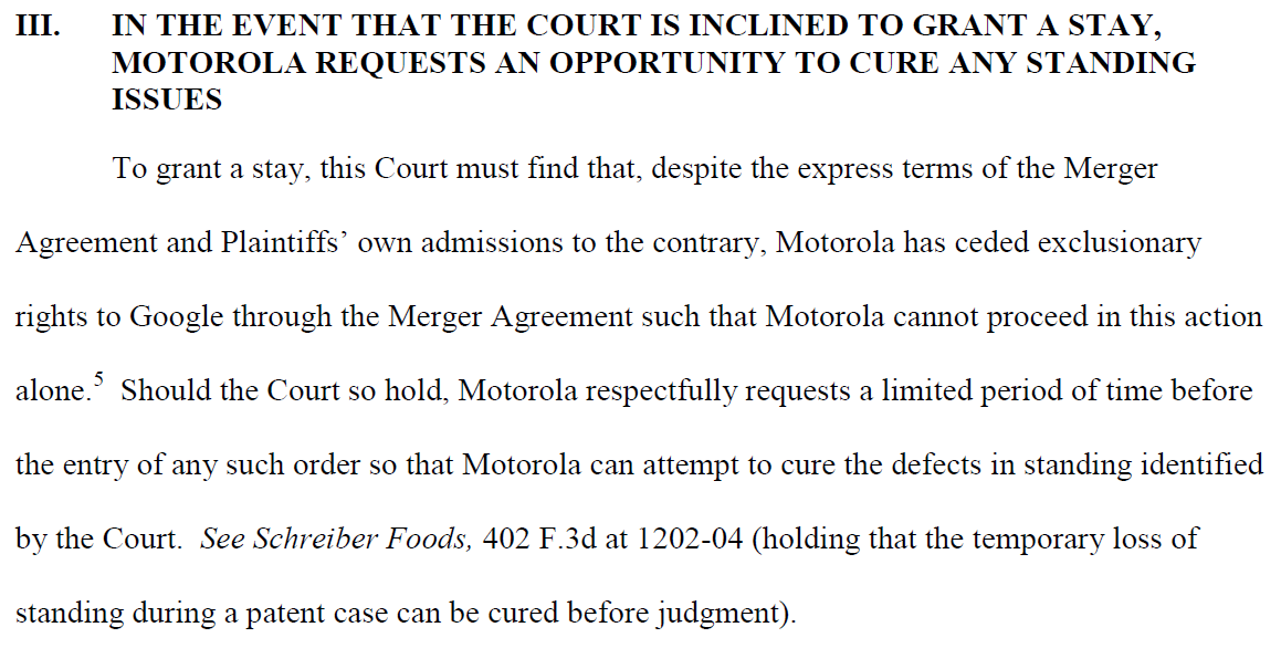 Foss Patents Google And Motorola Mobility May Amend Merger