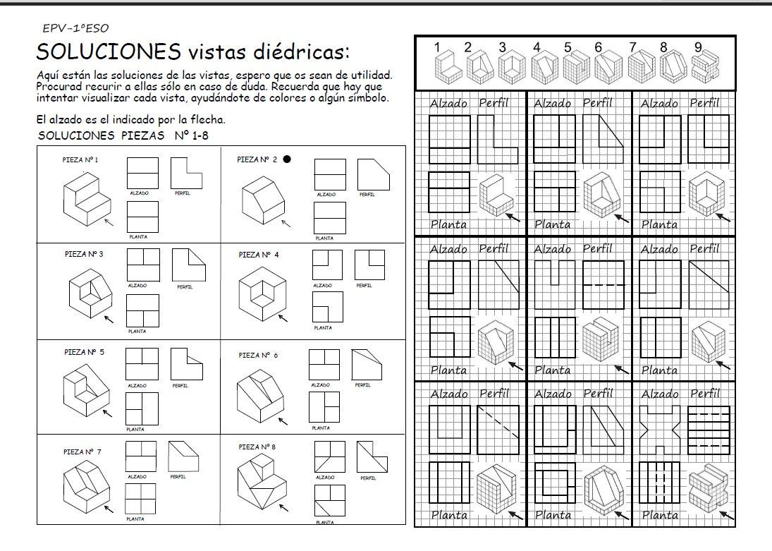 sistema diedrico ejercicios resueltos pdf