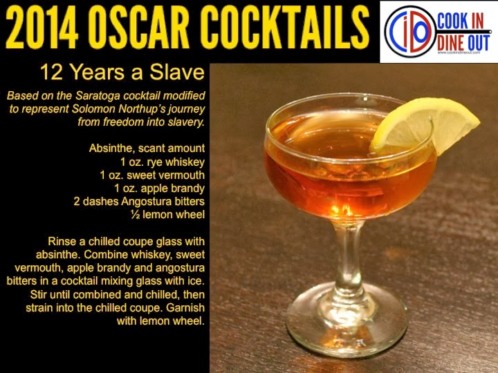 Oscar Cocktails 12 Years a Slave