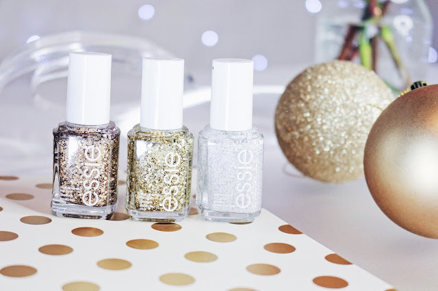 Beauty, Christmas, Essie Nail Polish, Essie, Discounted Essie Nail Polish, Glitter Nail Polish, Fragrance Direct, Christmas nails, Glitter, Essie Summit of style, Essie Top of the rock, Essie Peak of Chic,