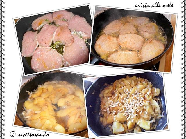 Arista o lonza di maiale alle mele la preparazione