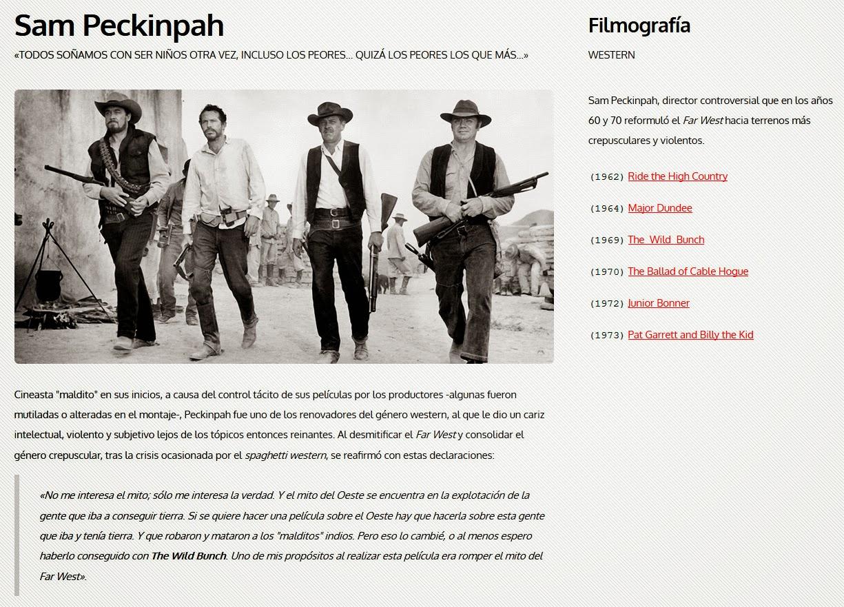 Web de Cine Western