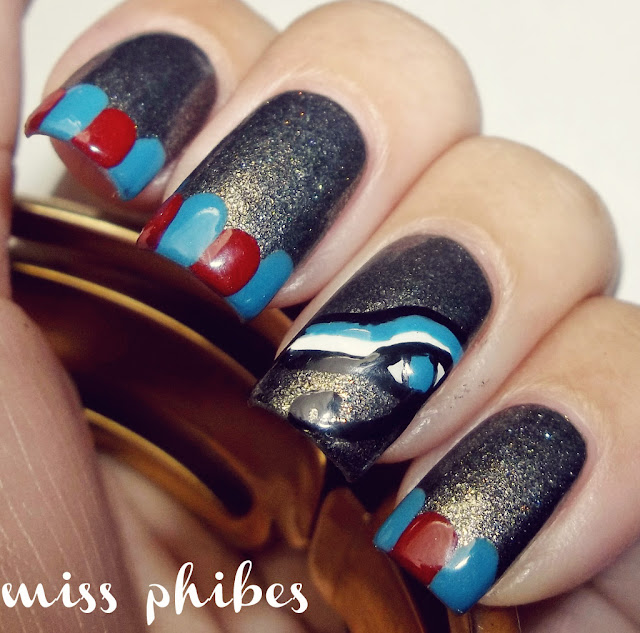 nail art egipcio + egyptian nail art