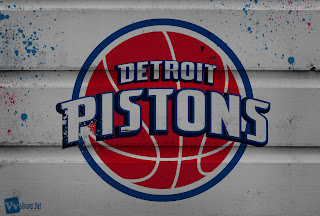 Detroit Pistons Basketball Team Logo Pain Splash HD Wallpaper