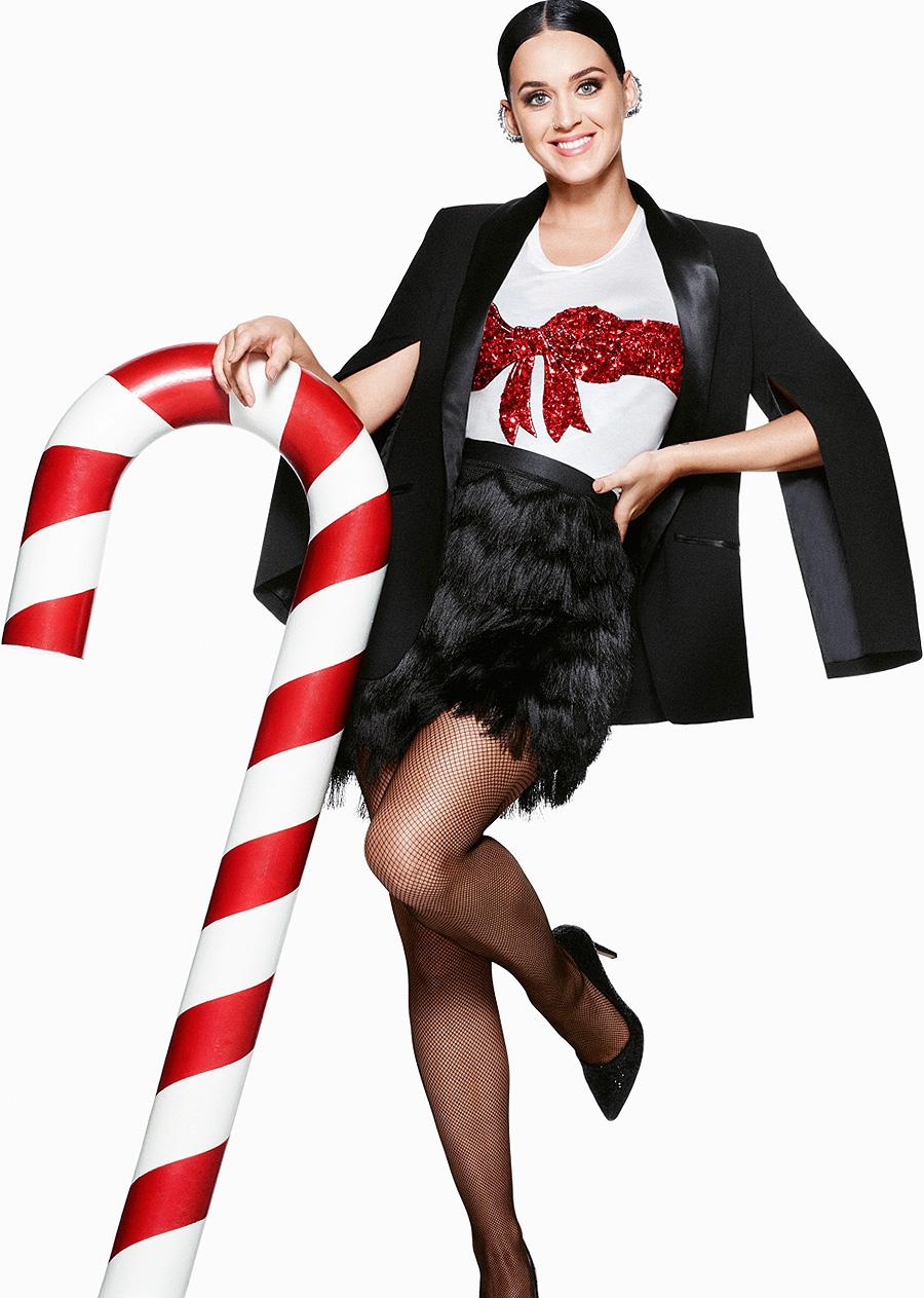 Katy Perry na campanha de Natal das lojas H&M