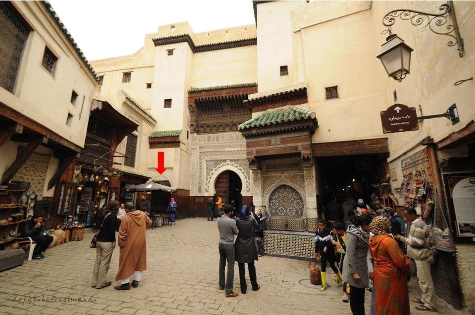 Entrada a las curtidurias en la Medina de Fez