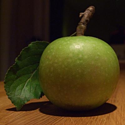 Grønt æble, plukket til madlavning