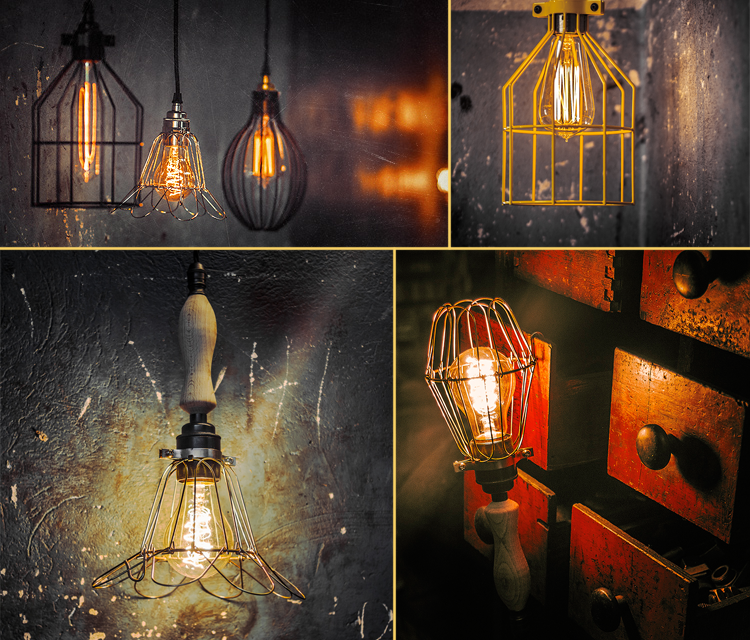 Edison bulbs, Kloshart lamps,