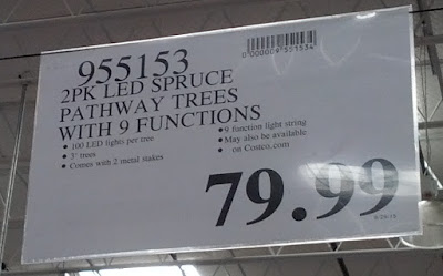 Deal for a 2 pack of LED Spruce Pathway Trees at Costco