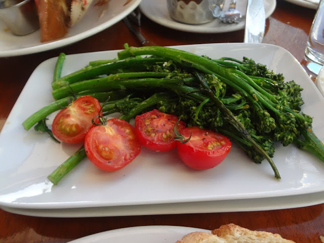 broccolini at the Sandbar restaurant in Vancouver