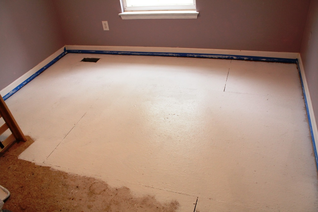 Painted Subfloor How to paint your subfloors