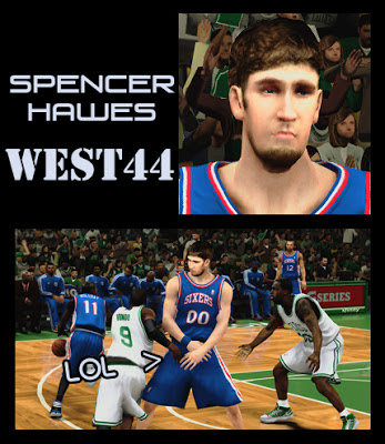 NBA 2K13 Spencer Hawes Cyber Face & Hair Mod