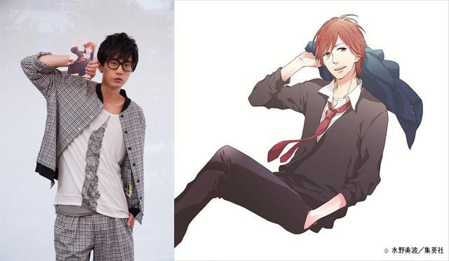 Takuya Eguchi dublador de Tomoya Matsu do anime shoujo Nijiiro Days