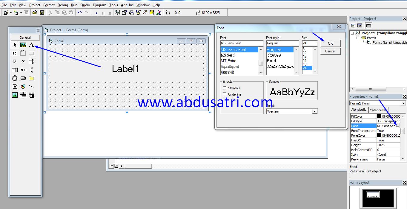 cara rubah hari dan tanggal ke format bahasa indonesia pada VB 6.0