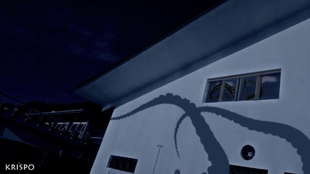 tentáculos gigantes en el puerto de hondarribia junto con sombra