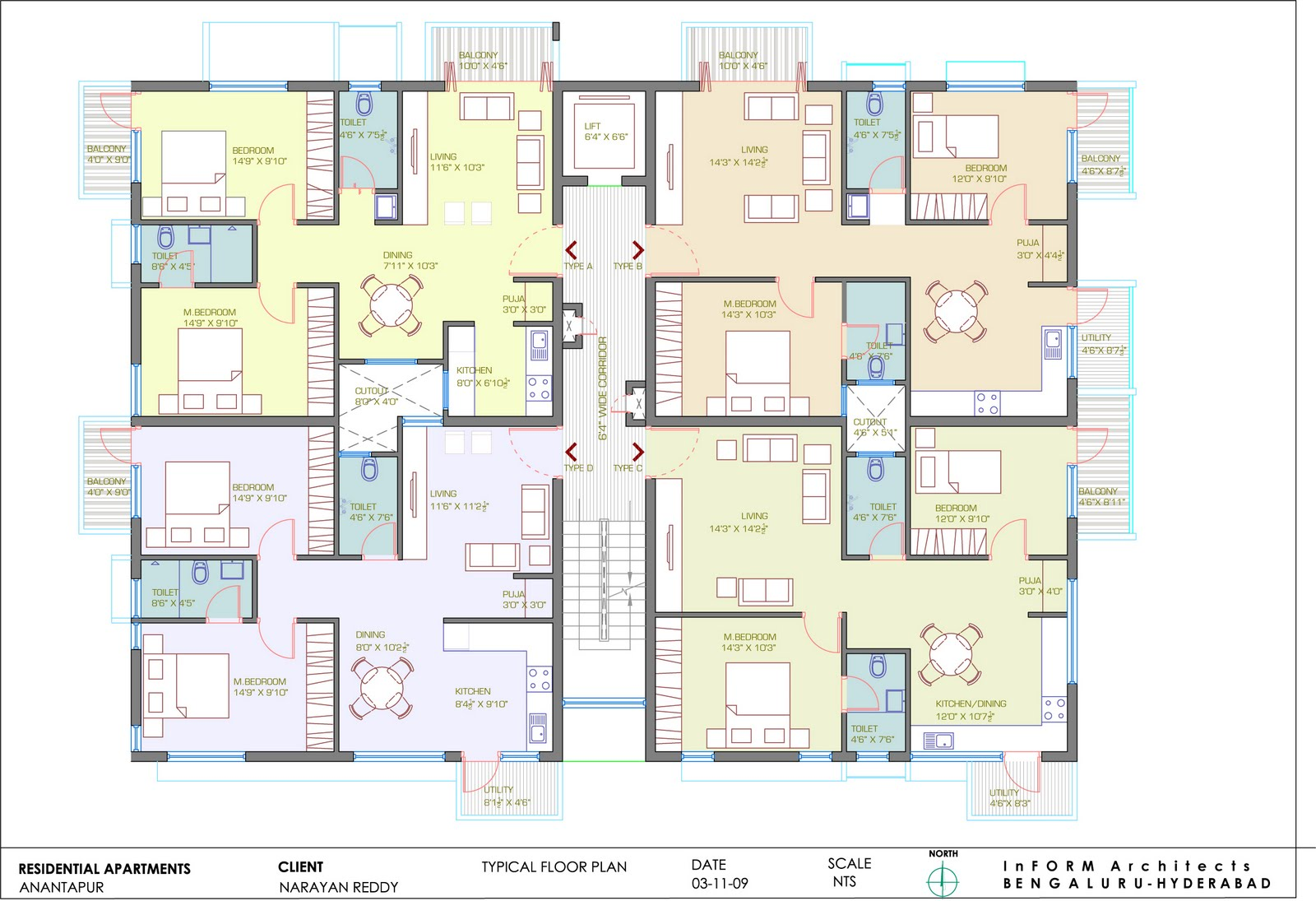 Work from oct 2008 till now for Floor plans presentation