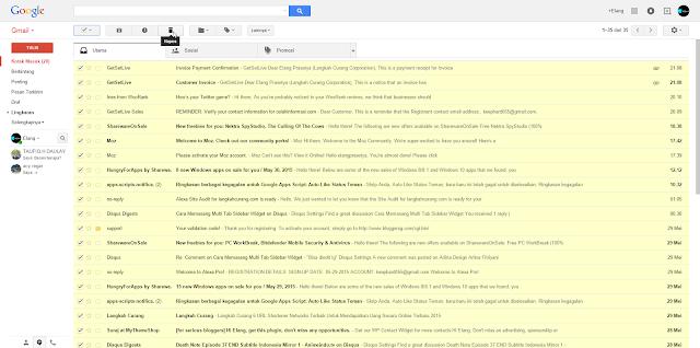 Cara Cepat Menghapus Pesan Yang Terdapat Pada Inbox Gmail