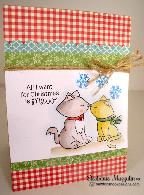 All I Want for Christmas Card by Stephanie Muzzulin | Newton's Christmas Cuddles Stamp set by Newton's Nook Designs #newtonsnook