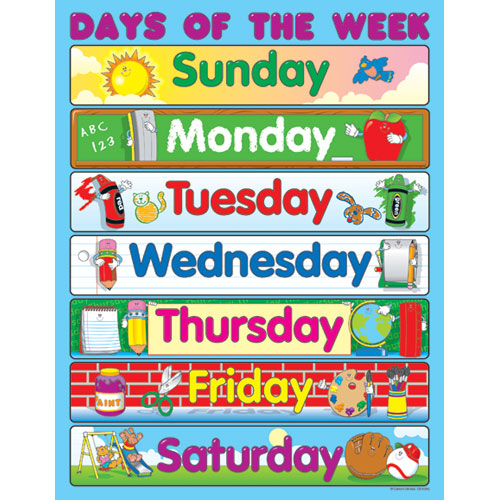 Life as a Kindergartener : Days of the Week