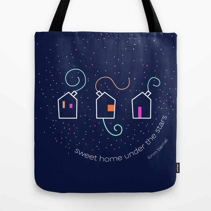 "Bolsos tote bags Kinm Bernal ""Sweet home under the stars"""