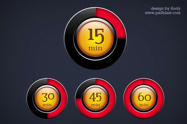 Timer Icons PSD