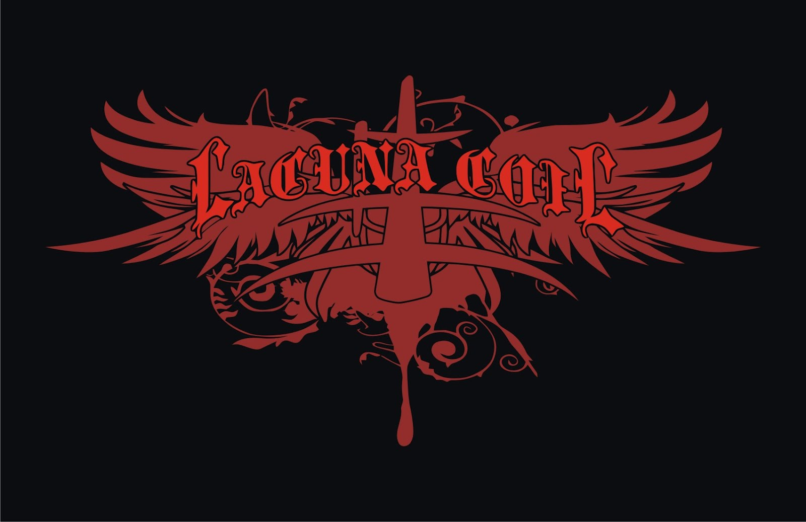 Lacuna Coil Symbol Wing Vector T Shirts