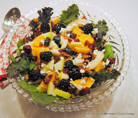 Winter Greens Salad with Orange Vinaigrette