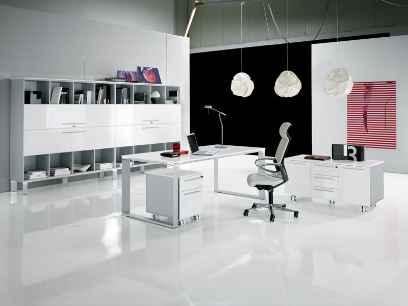 Luxury office furniture modern home minimalist for Modern minimalist office design
