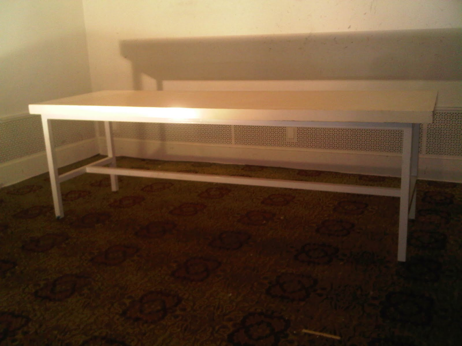 The Shop Must Go Large White Work Bench Or Conference Table - Large white conference table